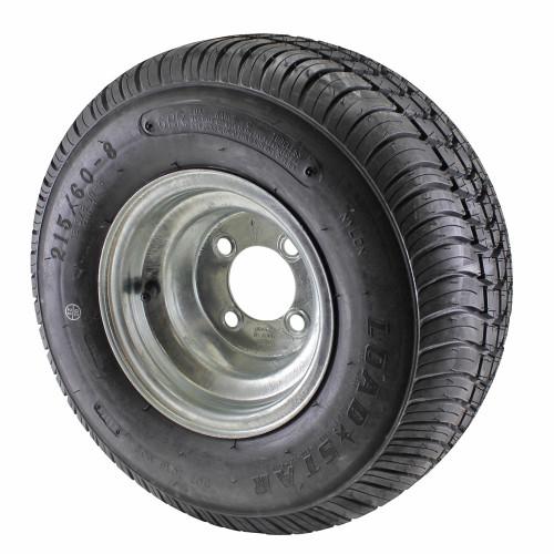 18.5X8.5-8 Loadstar Trailer Tire LRC on 4 Bolt Galvanized Wheel