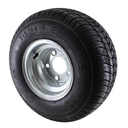 18.5X8.5-8 Loadstar Trailer Tire LRC on 5 Bolt Galvanized Wheel