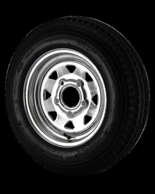4.80X12 Loadstar Trailer Tire LRC on 5 Bolt Galvanized Spoke Wheel