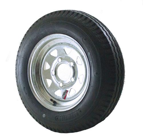 5.30X12 Loadstar Trailer Tire LRD on 5 Bolt Galvanized Spoke Wheel