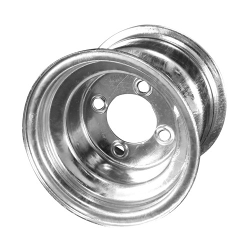 "8X7 4-Lug on 4"" Galvanized Bell Trailer Wheel"