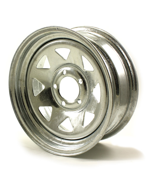 "15X5 5-Lug on 4.5"" Galvanized Spoke Trailer Wheel"