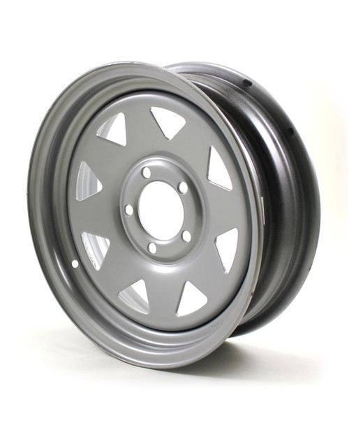 "15X5 5-Lug on 4.5"" Silver Spoke Trailer Wheel"