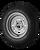 5.30X12 Loadstar Trailer Tire LRD on 5 Bolt Silver Mod Wheel - Heavy Duty