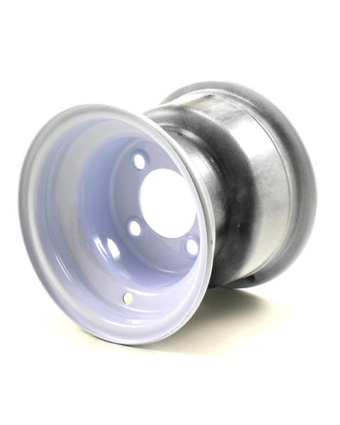 """8X7 4-Lug on 4"""" White Bell Trailer Wheel"""
