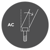 AC Screw for angled screw channel