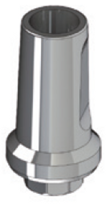 Straight Abutment, 9 mm height. Engaging. High Quality. High Strength. Made in Titanium 5Grade. Screw included.