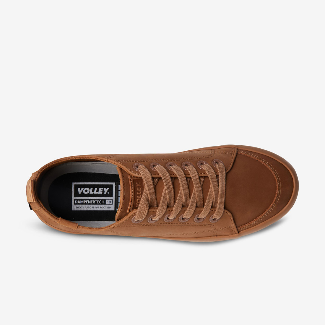 Volley UnisexAdultDEUCE LEATHER LOW Brown   5