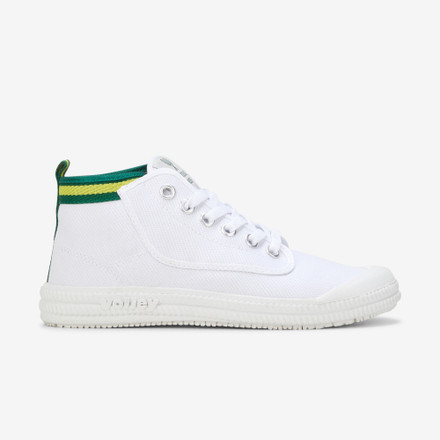 Volley Youth Heritage High Leap White/Green/Gold