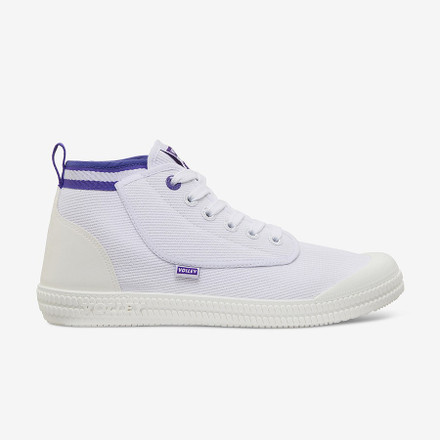 Volley Heritage High White/Purple