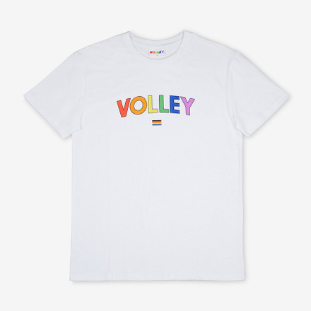Volley Volley Pride Tee White