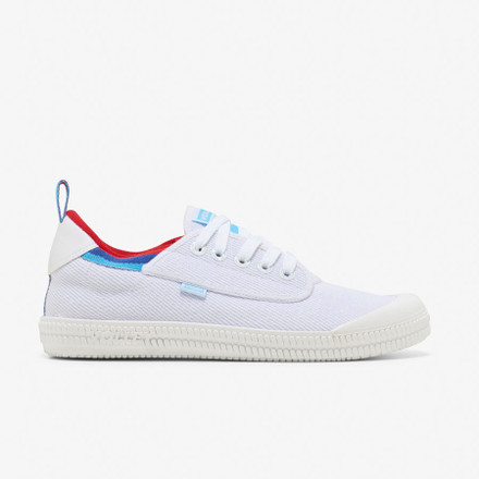 Volley Heritage Low  White/Melon/Blue