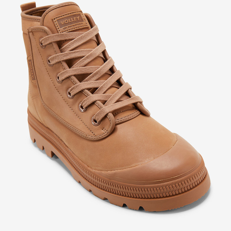 Volley UnisexAdultOvergrip Leather Tan Leather   4