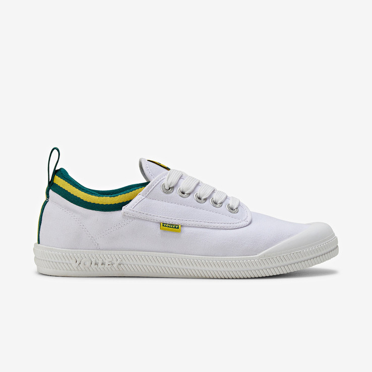 Volley UnisexAdultInternational Low White/Green/Gold   0