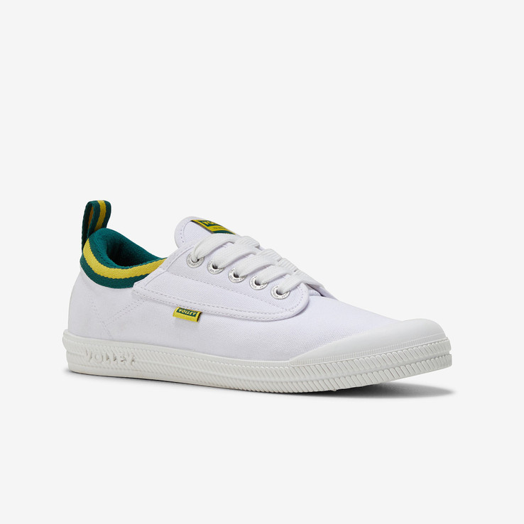 Volley UnisexAdultInternational Low White/Green/Gold   2