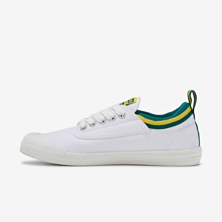 Volley UnisexAdultInternational Low White/Green/Gold   6
