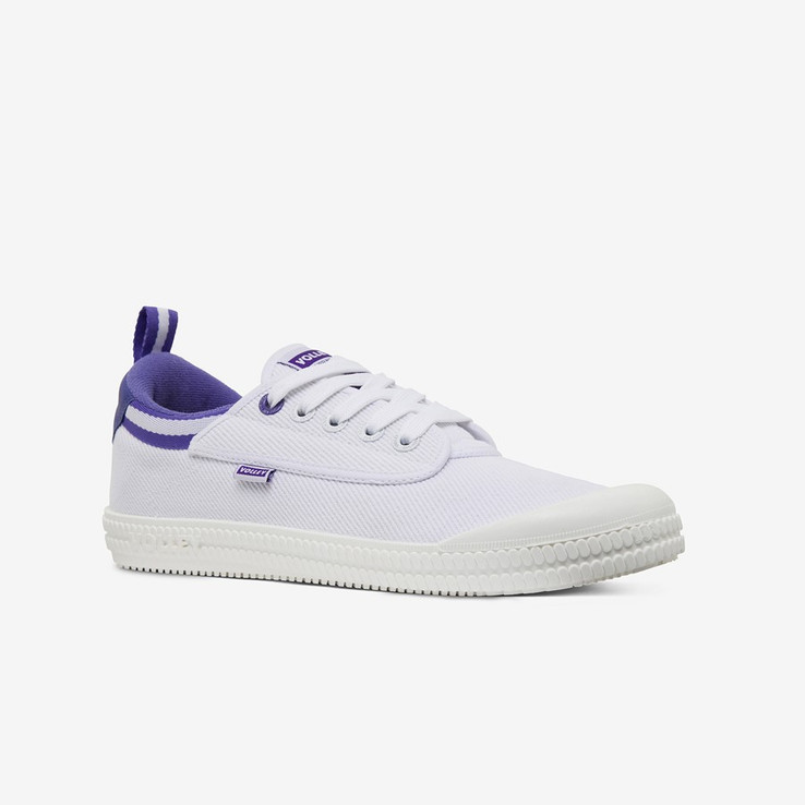 Volley UnisexAdultHeritage Low White/Purple   2