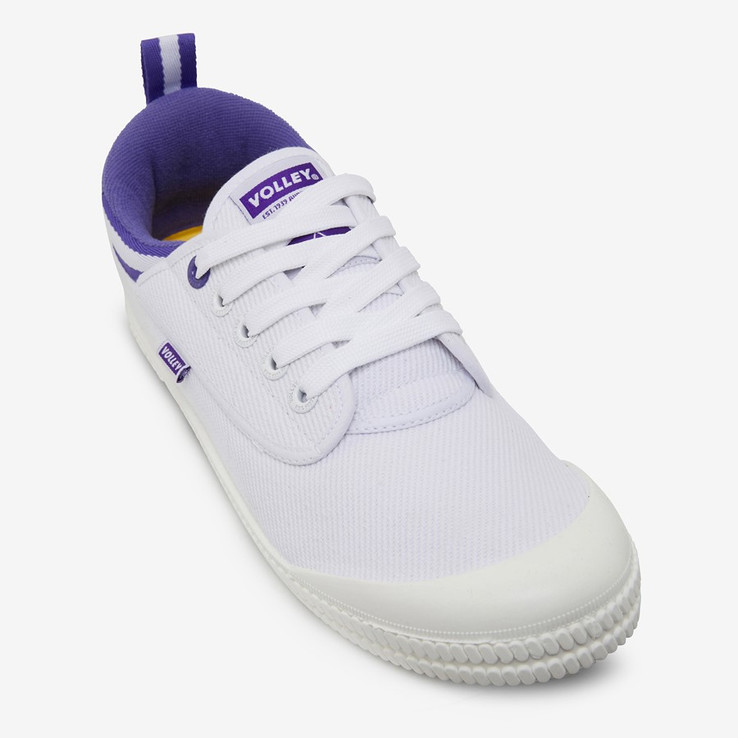 Volley UnisexAdultHeritage Low White/Purple   4