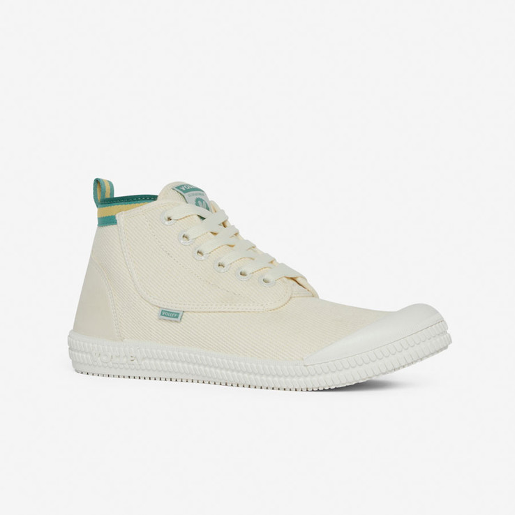 Volley UnisexAdultHeritage High Vintage White/Green/Gold   2