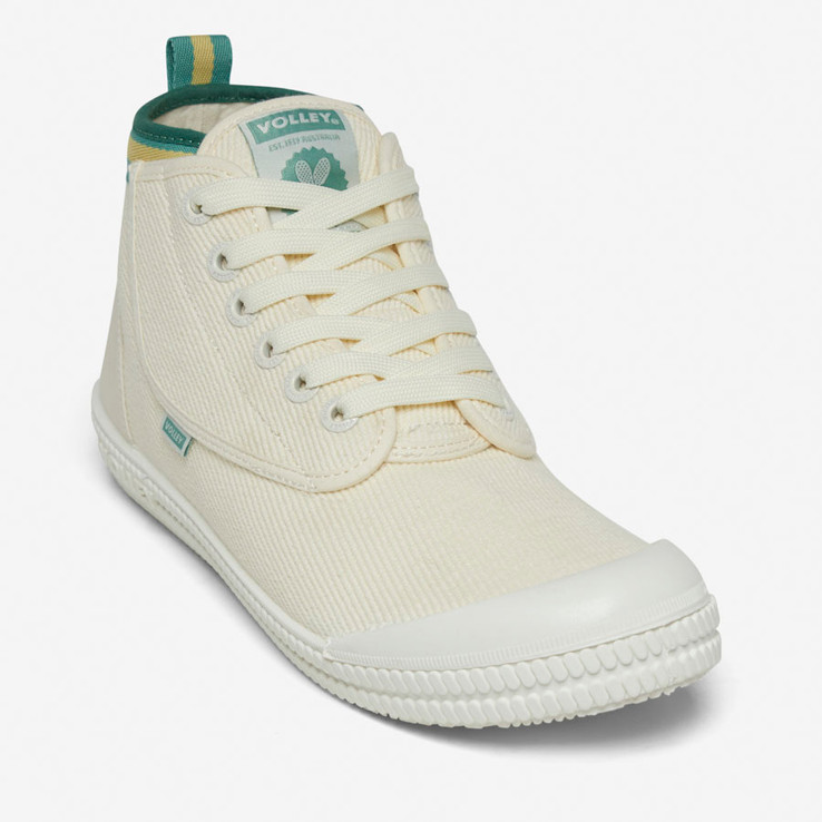 Volley UnisexAdultHeritage High Vintage White/Green/Gold   4