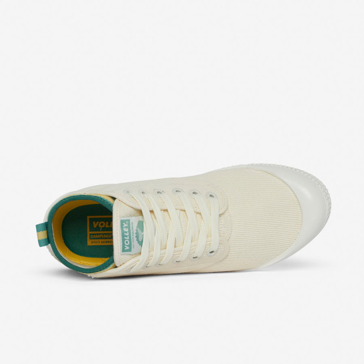 Volley UnisexAdultHeritage High Vintage White/Green/Gold   5