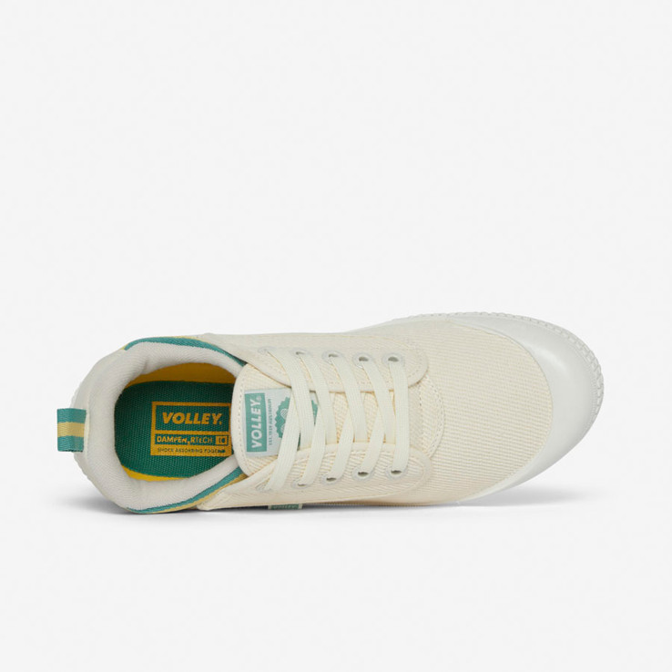 Volley UnisexAdultHeritage Low Vintage White/Green/Gold   5
