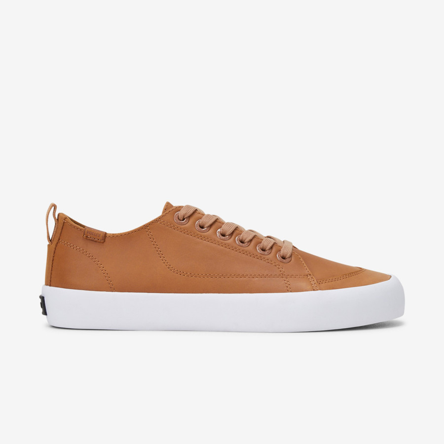 Volley Deuce Leather Low Tan Leather