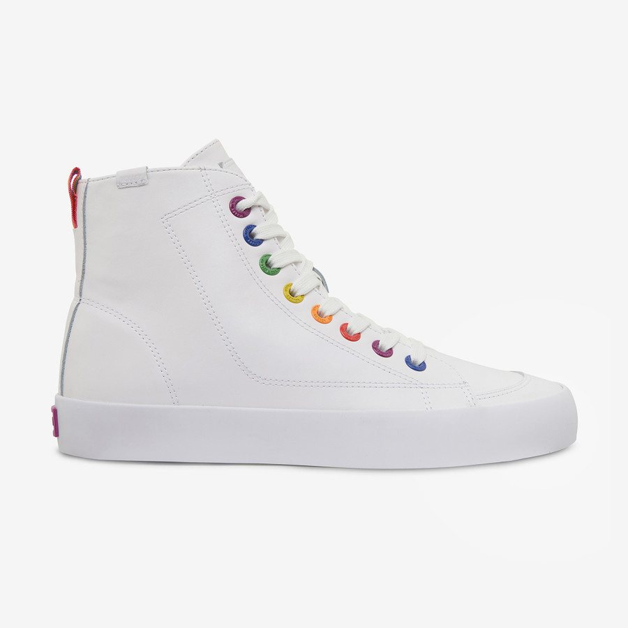 Volley Pride Deuce Leather High White Leather