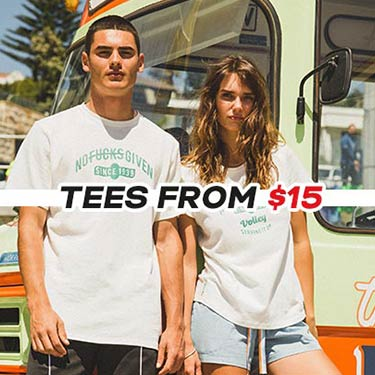 Tees from $15