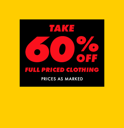 60% off clothing