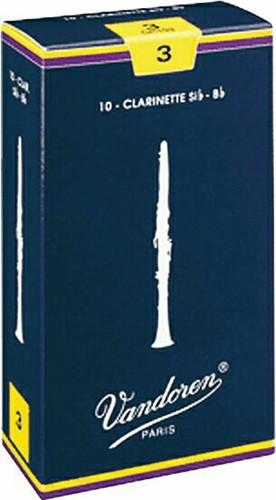 Vandoren Bb Clarinet Reeds 10pk - #3