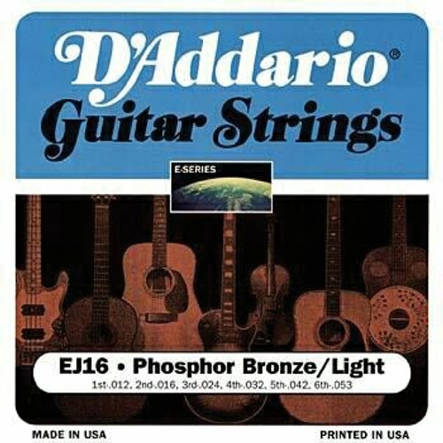 D'Addario Phosphor Bronze Acoustic Guitar Strings - Light
