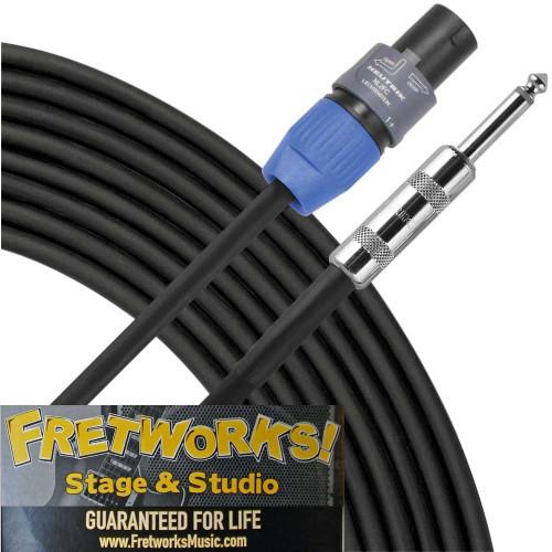 "Fretworks! Stage & Studio 25' Speaker Cable - Speakon to 1/4"""