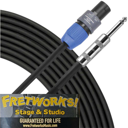 Fretworks! Stage & Studio 50' Speaker Cable - Speakon to 1/4""