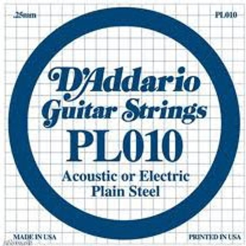 D'Addario Plain Steel Single String