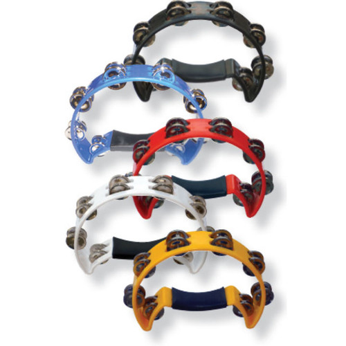 Cannon Half-Moon Double Row Tambourine - Assorted Colors