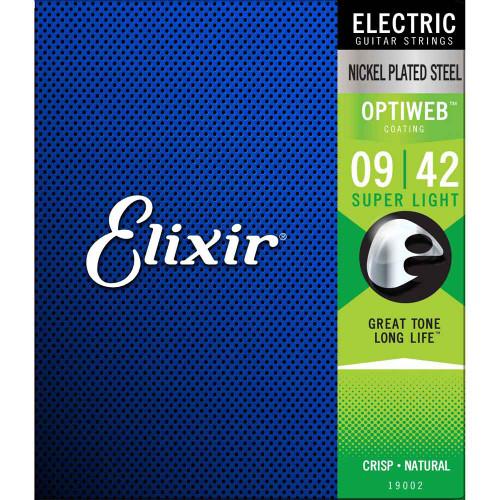 Elixir Optiweb Electric Guitar Strings - Super Light