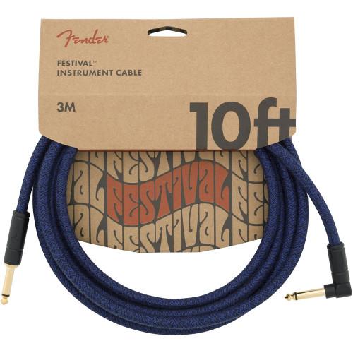 Fender Festival 10' Blue Instrument Cable