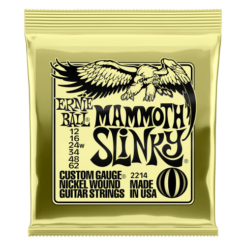 Ernie Ball Mammoth Slinky Nickel Wound Electric Guitar Strings 12-62