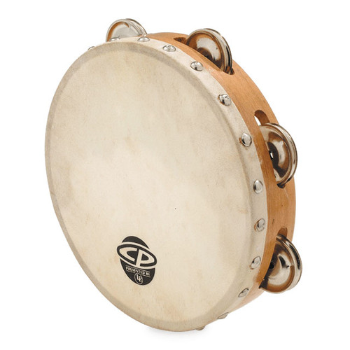 """CP by LP 8"""" Tambourine with Head, Single Row"""