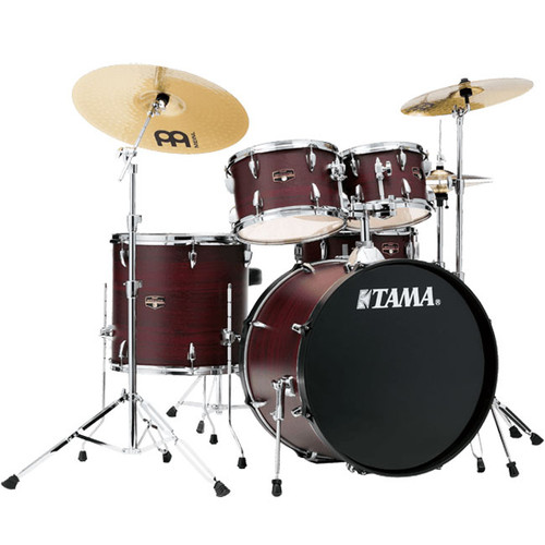 Tama Imperialstar Complete Drum Set with Cymbals and Hardware - Burgundy Walnut Wrap