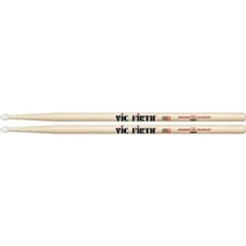 Vic Firth 2B Hickory Drumsticks - Nylon Tip