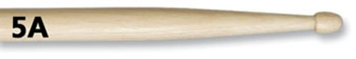 Vic Firth 5A Hickory Drumsticks - Wood Tip