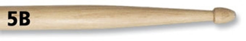 Vic Firth 5B Hickory Drumsticks - Wood Tip
