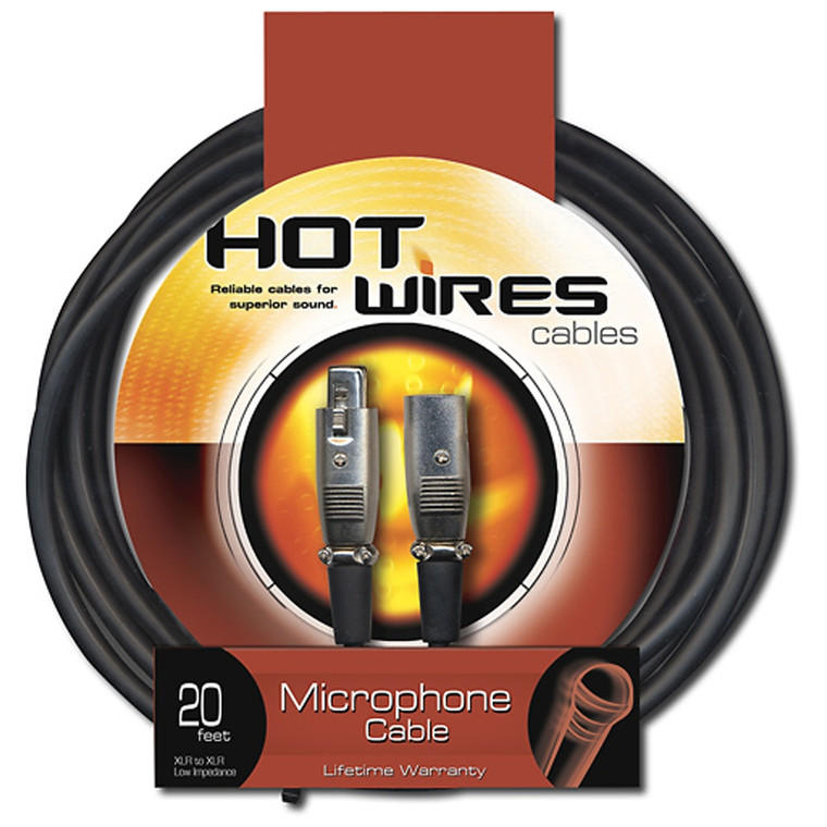 Hot Wires 20' Microphone Cable