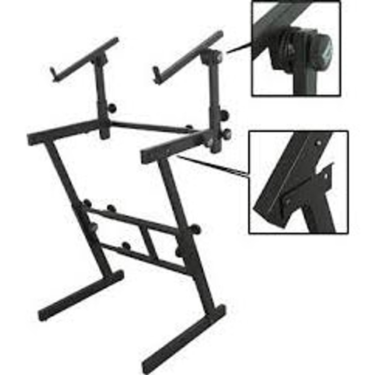 On-Stage Stands Keyboard Z-Stand w/2nd Tier