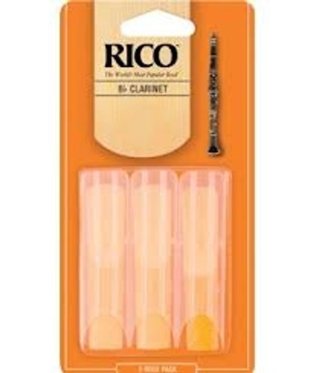 Rico Bb Clarinet Reeds 3pk - #3 1/2