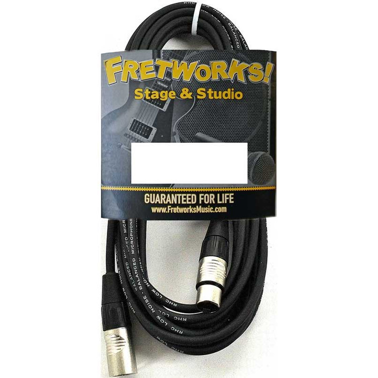 Fretworks! Stage & Studio 15' Microphone Cable