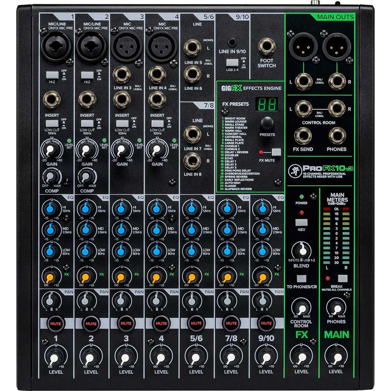 Mackie ProFXv3 10-Channel Professional Effects Mixer with USB