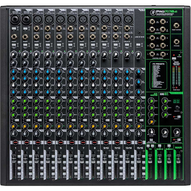 Mackie ProFXv3 16-Channel Professional Effects Mixer with USB